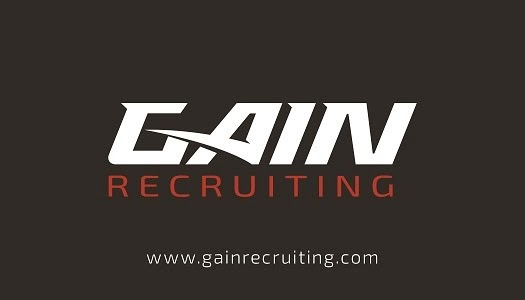 Gain Recruiting WHITE Logo